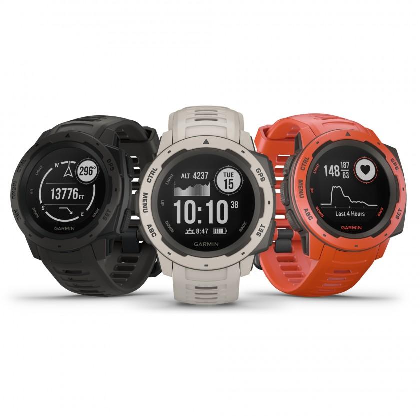 Instinct Outdoor-Smartwatch schwarz, weiss, orange 2018 von Garmin