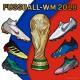 Fußball-WM 2018: WM-Pokal u. Fußballschuhe der beliebtesten Marken von Nike, adidas  Puma
