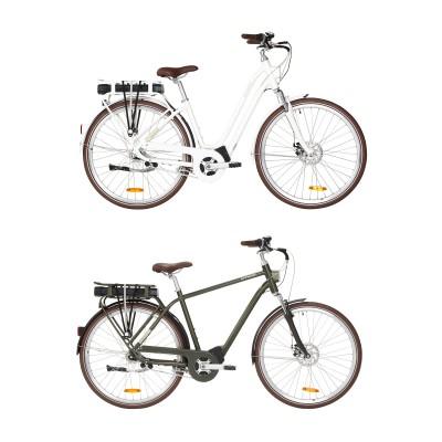 Elops 920 E-Bikes wei, lrchengrn 2019 von Decathlon