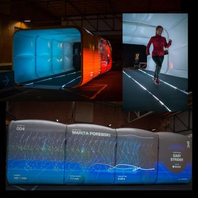Tunnel zur Laufanalyse der zusammen von Motion Metrix und On konzipiert wurde