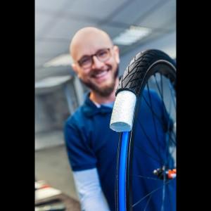 Airless-System bestehend aus Reifen, Schlauch und blauen Ring 2019 von Schwalbe