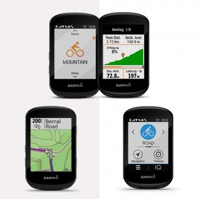 Garmin GPS-Fahrradcomputer Edge 530 und Edge 830 rechts mit Touchscreen
