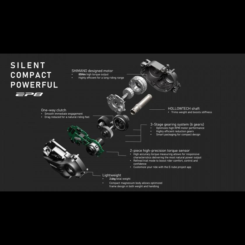 DU-EP800 Mittelmotor von Shimano - detaillierte Innenansicht 2020