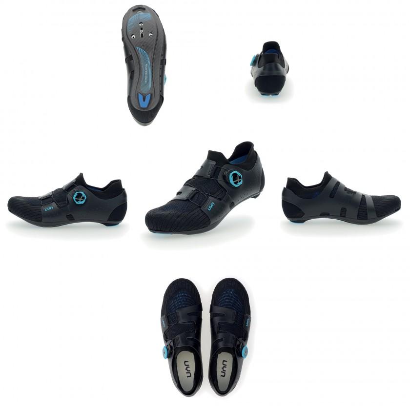 UYN Naked Full Carbon Radschuhe black/blue 2021