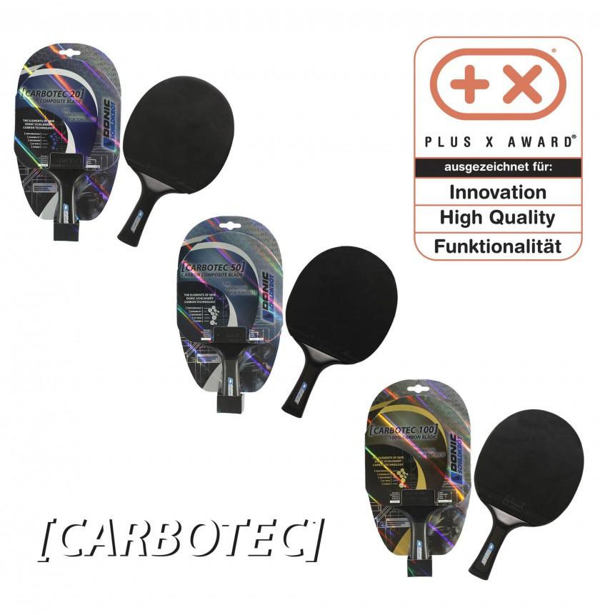 Die CarboTec-Tischtennisschläger gewinnen den Plus X Award 2010 in mehreren Kategorien