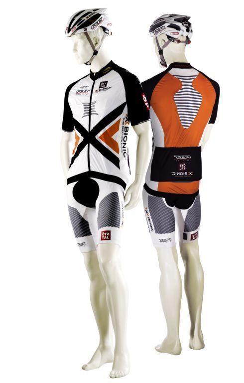Bike-Shirt und -Hose des Felt tztal X-BIONIC Teams