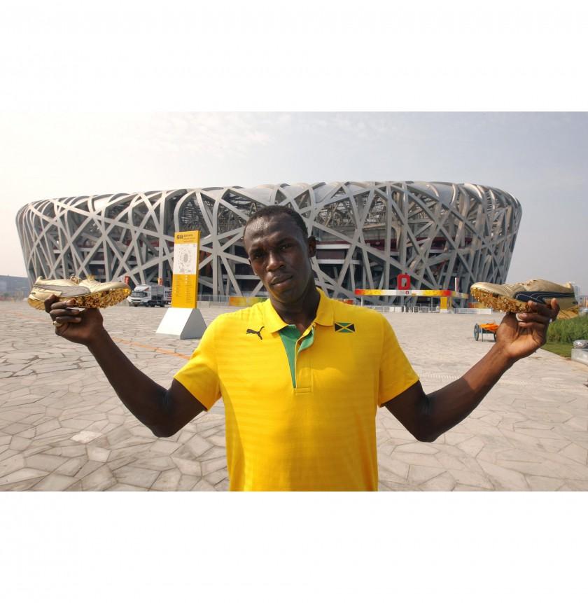 Usain Bolt bei den Olympischen Spielen 2008 in Peking