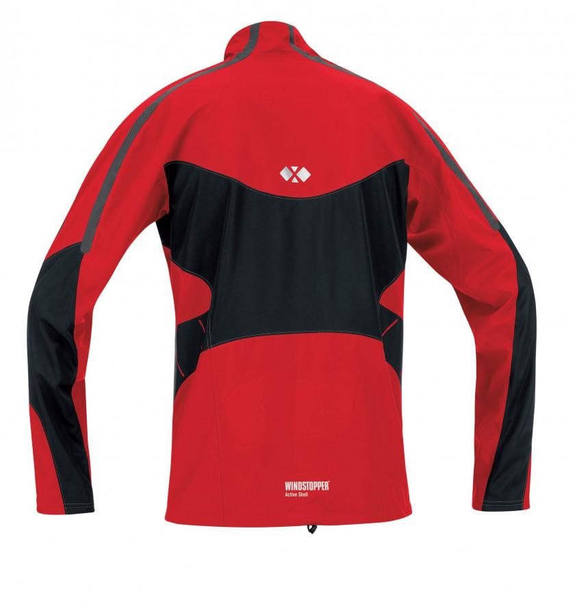 GORE RUNNING WEAR: Windstopper X-Running AS Men red back