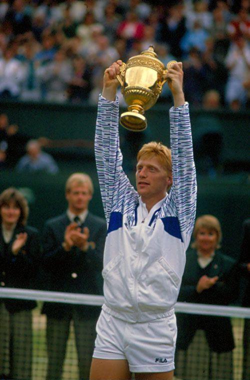 Boris Becker beim Wimbledon-Sieg 1989