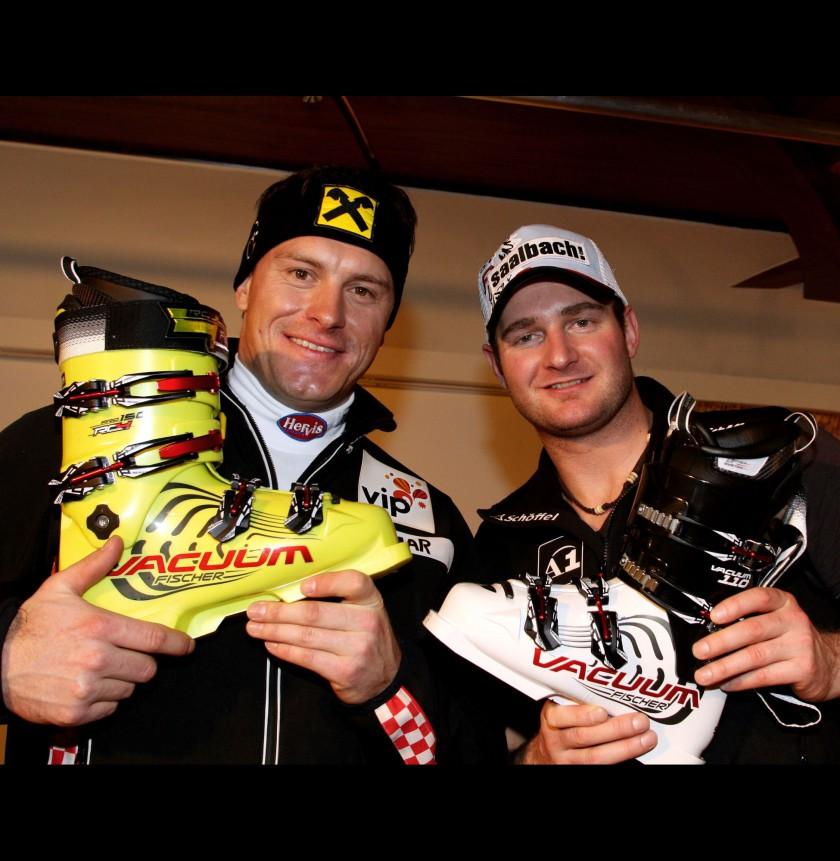Ivica Kostelic mit dem VACUUM RC4 Pro 150 und Georg Streitberger mit dem VACUUM 110