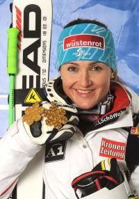 Elisabeth Grgl gewann auf HEAD Skier 2x Gold bei der Alpinen Ski WM 2011