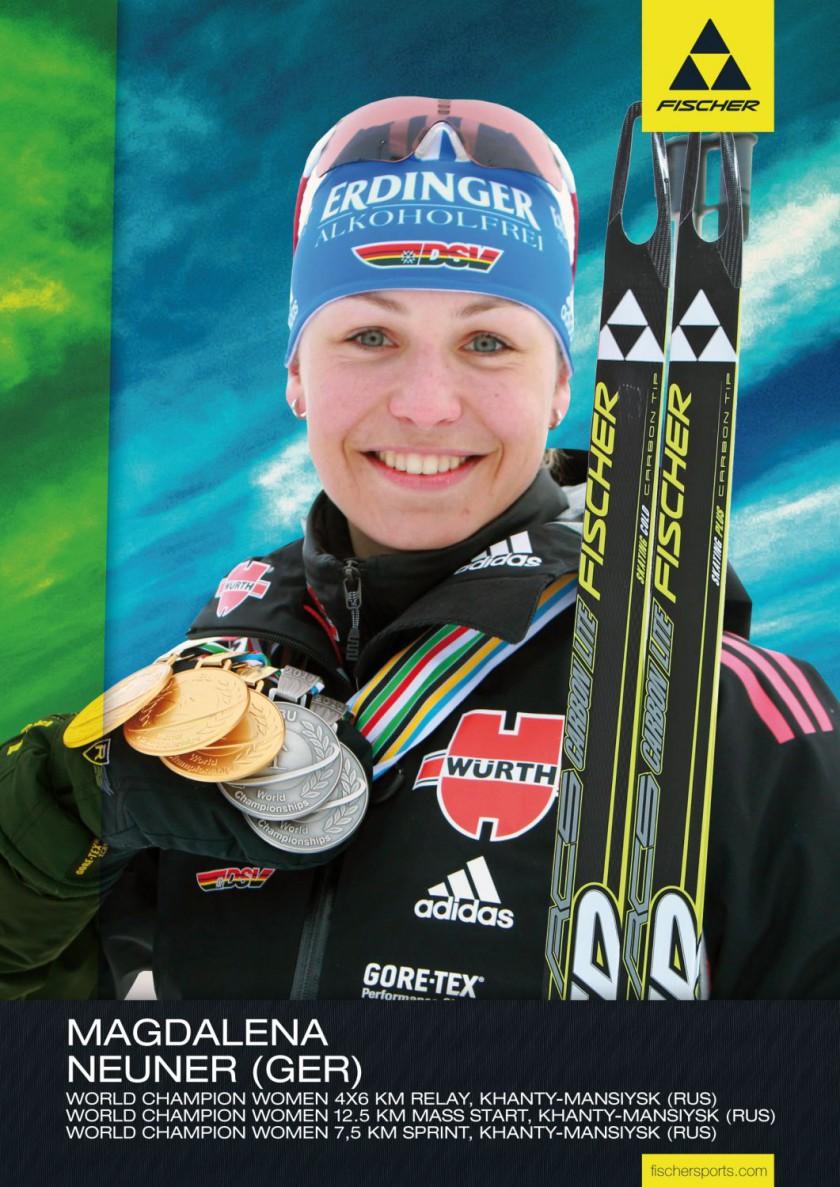 Fischer Athletin Magdalena Neuner war die erfolgreichste Medaillensammlern der Biathlon WM 2011
