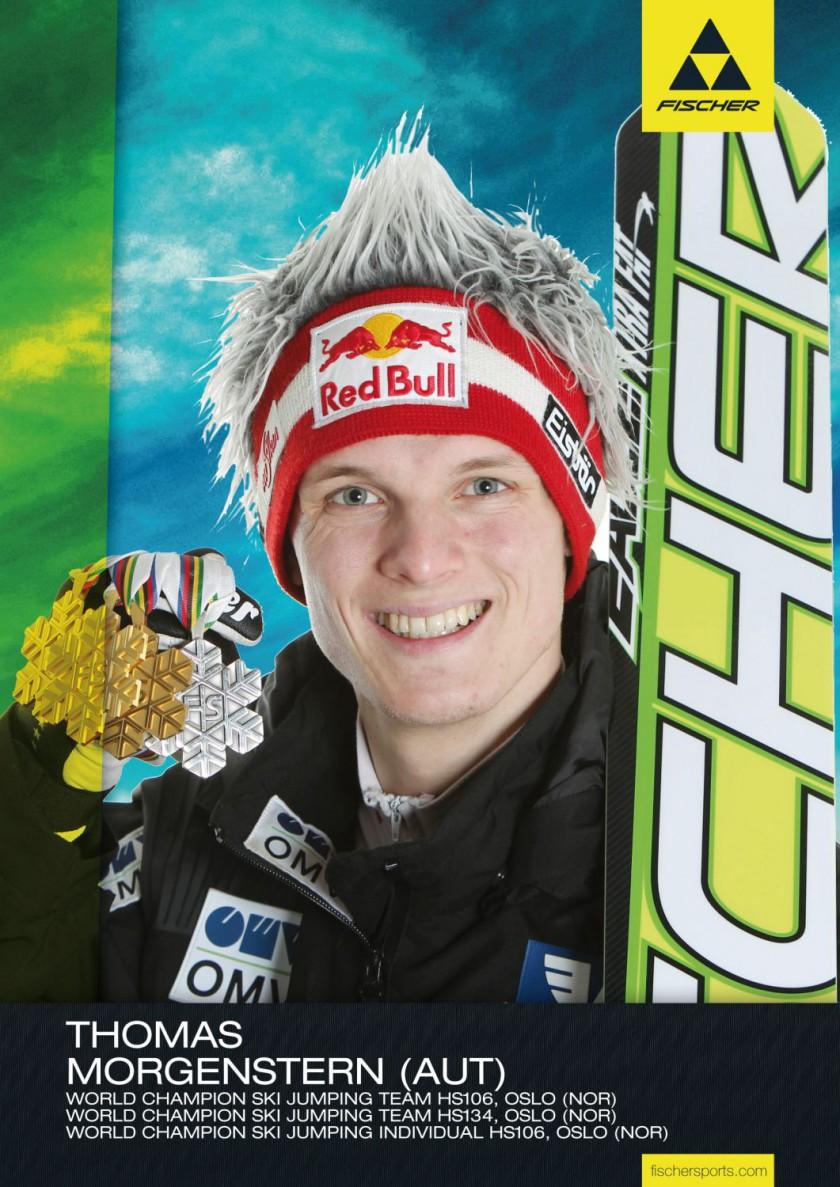 Fischer Athlet Thomas Morgenstern war der erfolgreichste Medaillensammler der Skisprung WM 2011