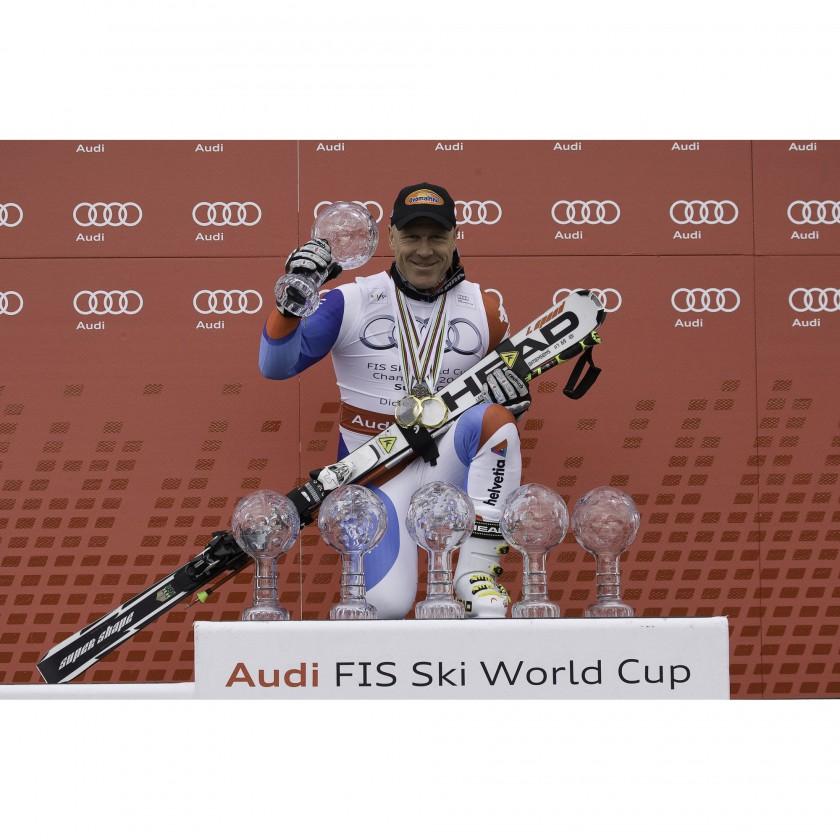 Didier Cuche gewinnt mit TYROLIA Bindungen die Weltcupwertungen 2010/11 in der Abfahrt und im Super-G
