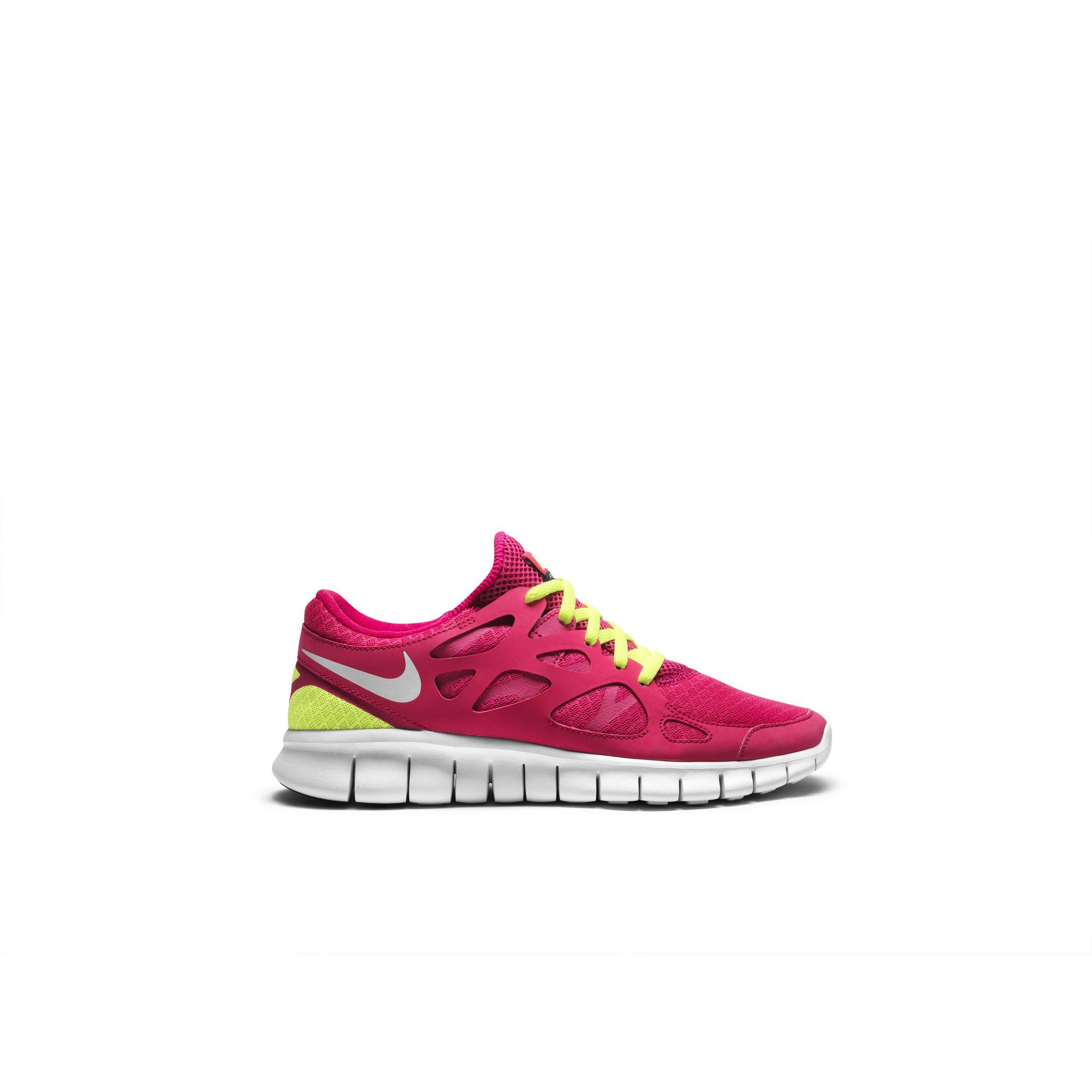 Nike Free Run 2 Womens Running Shoe Black White Magenta 38530 Low Price