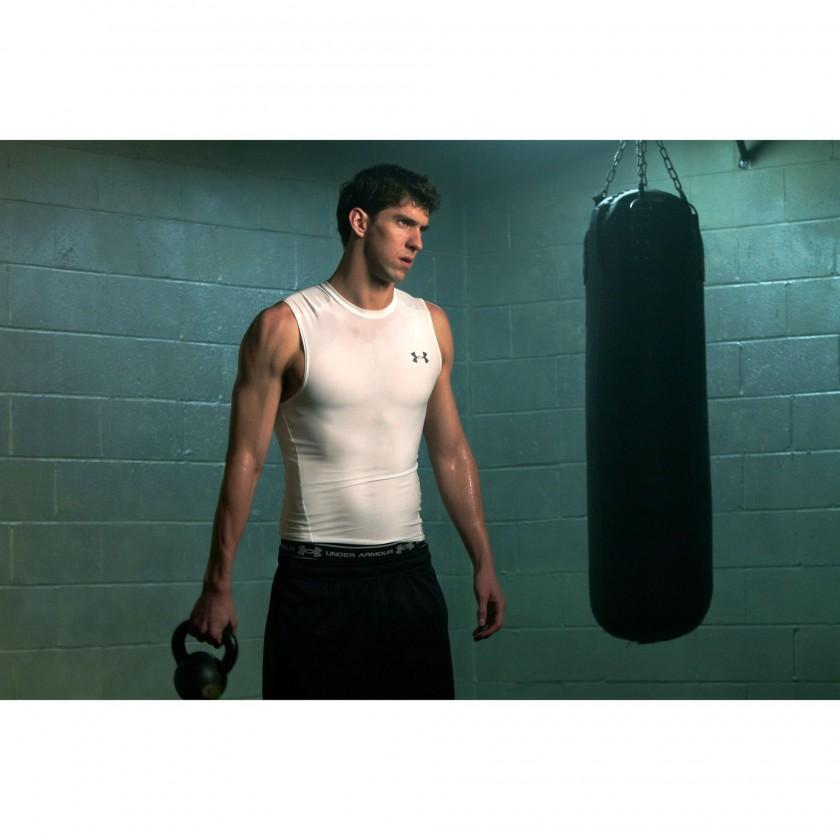 Michael Phelps in Under Armour Kompression-Baselayern