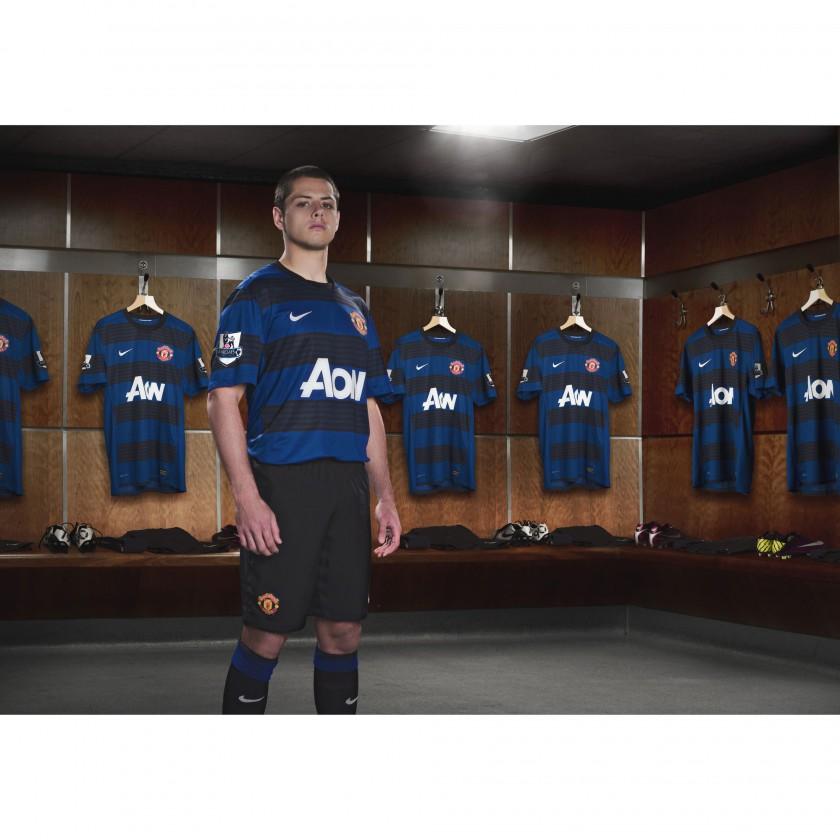 Javier Chicharito Hernandez von Manchester United im Nike Auswärtstrikot der Saison 2011/12