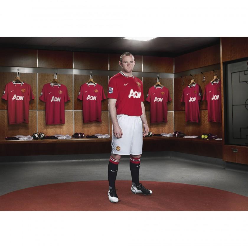 Wayne Rooney von Manchester United im Nike Heimtrikot der Saison 2011/12