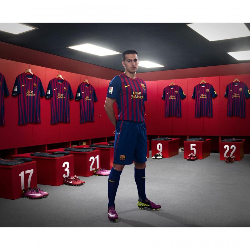Pedro vom FC Barcelona im Nike Heimtrikot der Saison 2011/12