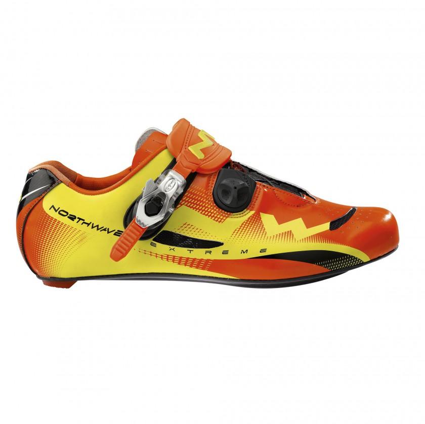 EXTREME Bikeschuh mit S.B.S. Verschluss yellow-orange 2012