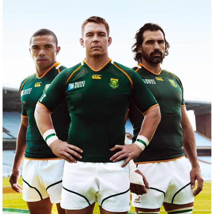 Südafrikanische Rugby-Spieler in Canterbury of New Zealand Trikots 2011