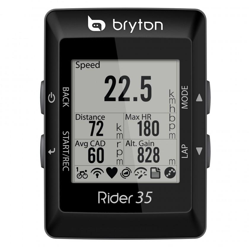 Rider 35E GPS-Fahrradcomputer front 2012