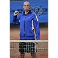 Nikolay Davydenko im Warm up Jacket 2012