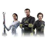 Karen Putzer, Aksel Lund Svindal und Kjetil Jansrud in X-BIONIC Decision Layer 2012