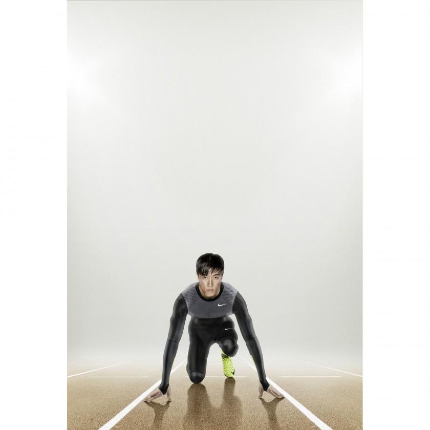 Liu Xiang im Nike Pro Turbospeed-Anzug 2012