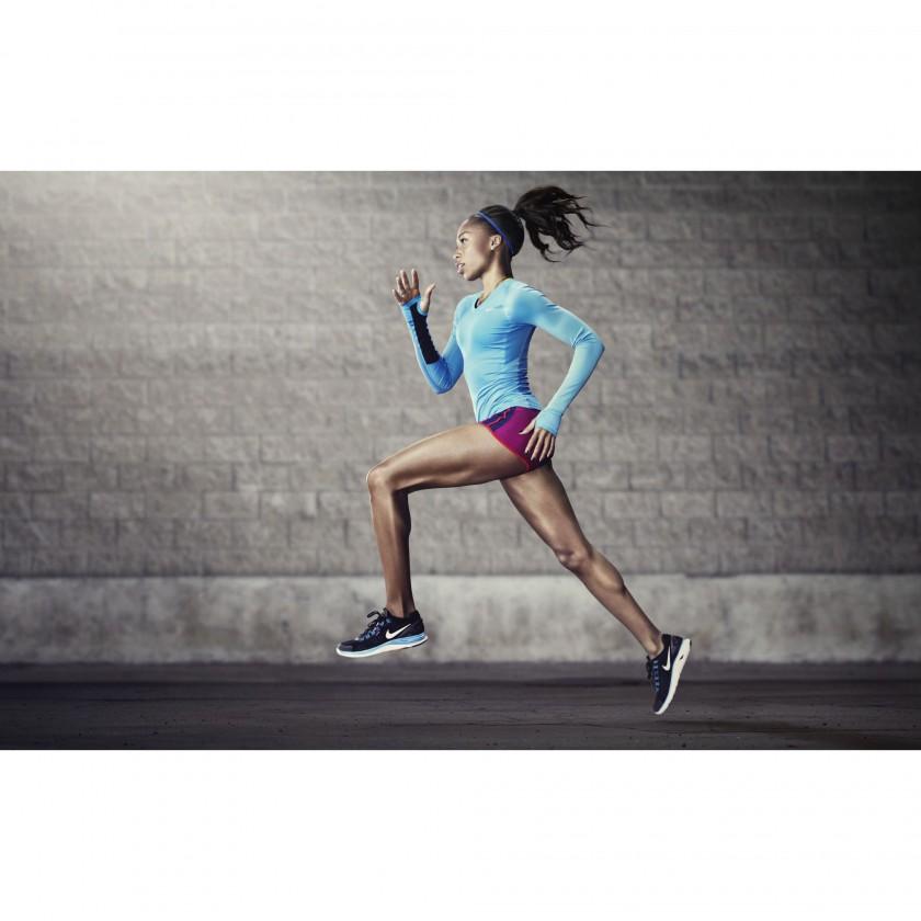 Allyson Felix beim Lauftraining im neuen Lunar Hyper Workout+ mit Nike+ Technologie 2012