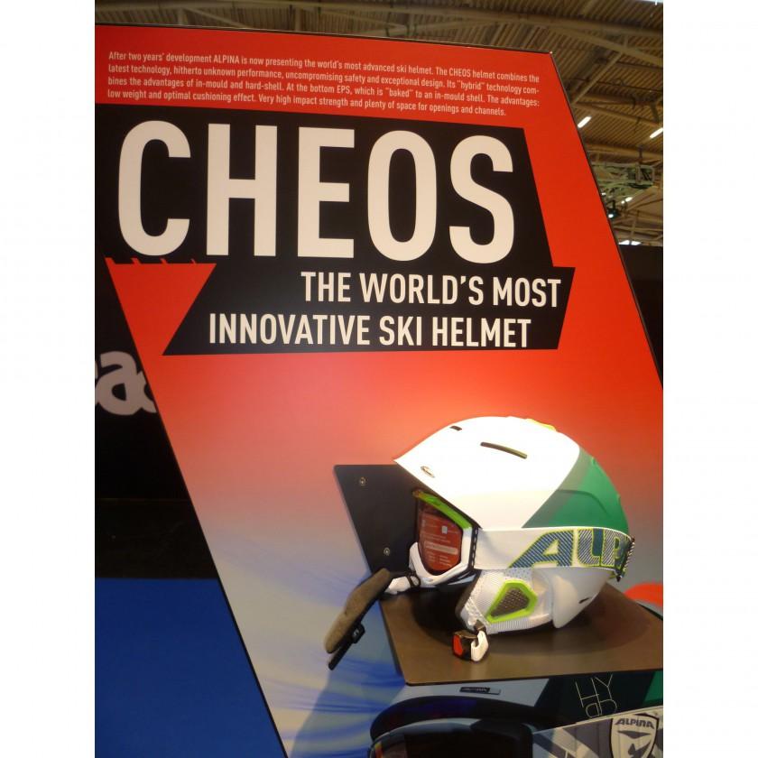 ISPO 2012: Alpina Skihelm CHEOS - The Worlds most innovative Ski Helmet