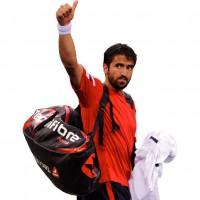 Janko Tipsarevic mit der Tour.12 Tennistasche 2012