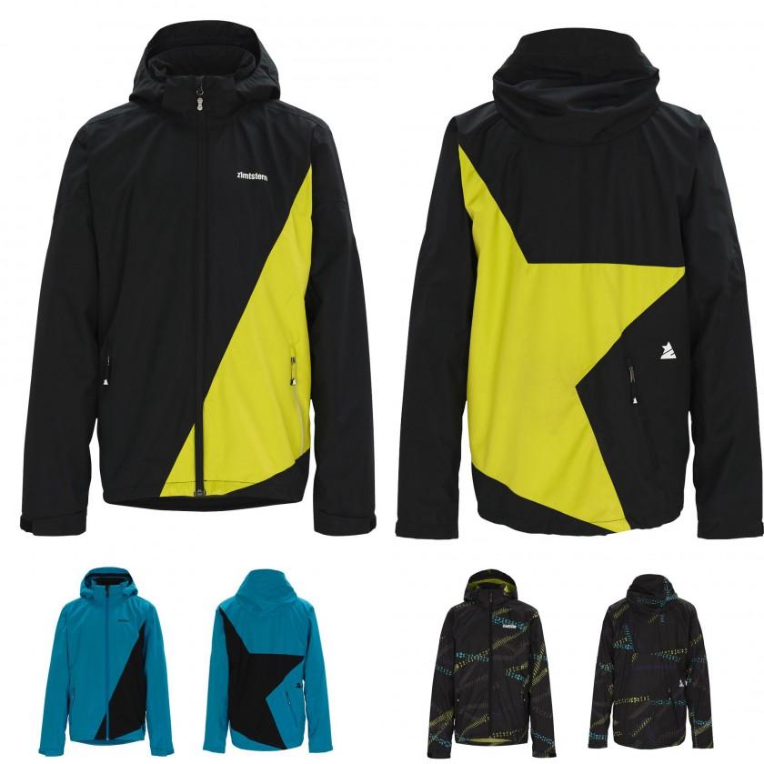 Crux Rain Jacket black-yellow/blue-black/tiredao-black 2012