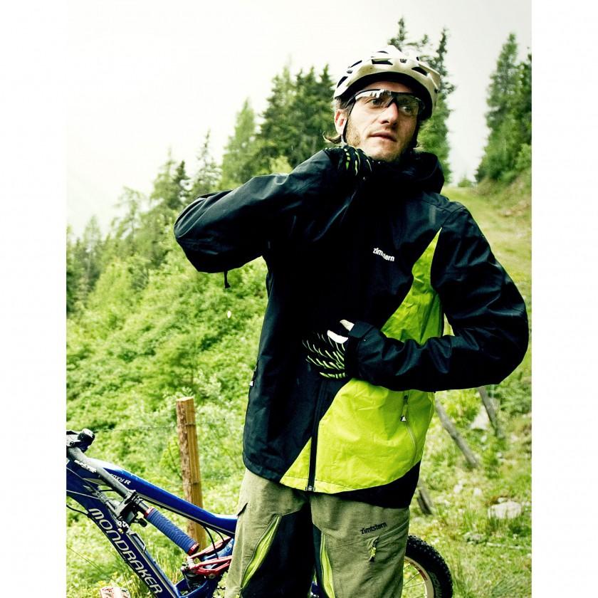 Crux Rain Jacket black-yellow Action 2012