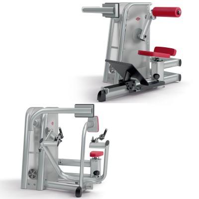 Motorisierte, isokinetische Kraftgertelinie 4E: Rckenstrecker, Rudermaschine