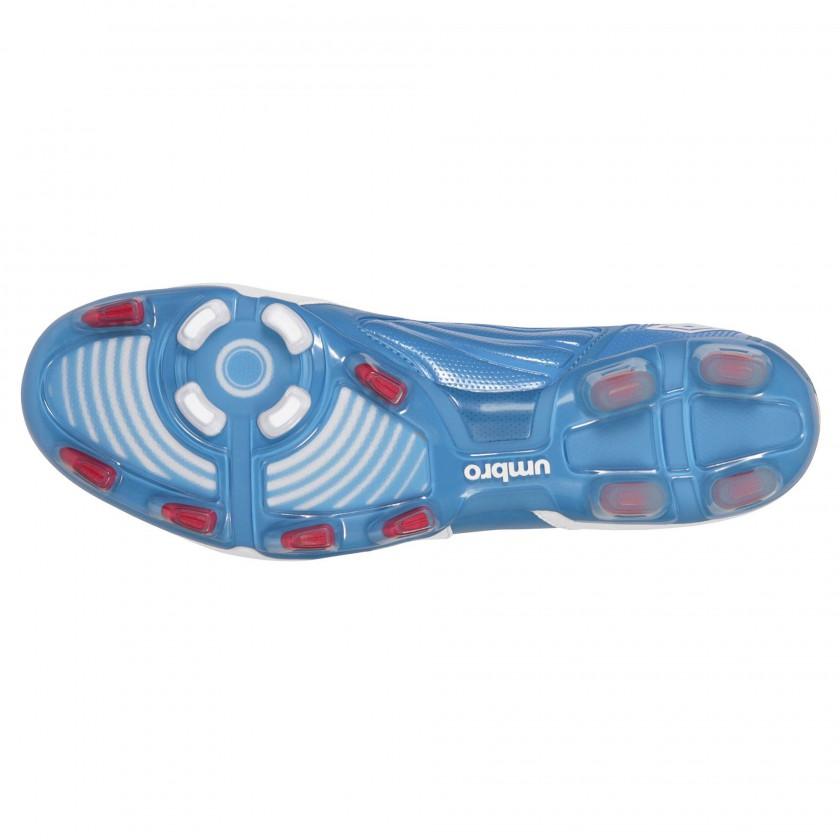Geometra Pro Fuballschuh Men white/blue sole 2012