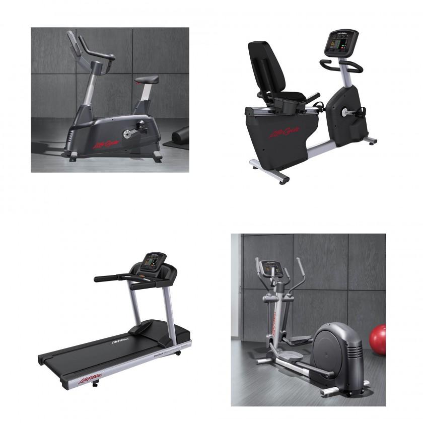 Activate Serie von Life Fitness 2012: Rad- u. Liegerad-Ergometer, Laufband und Ellipsen-Crosstrainer