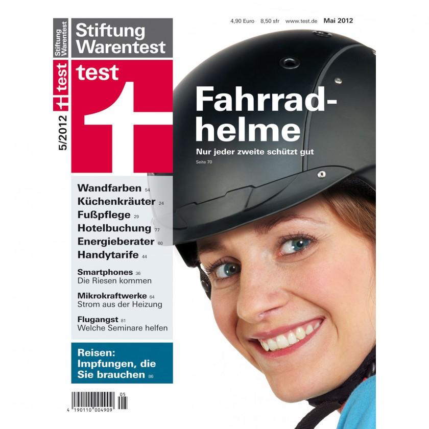 Stiftung Warentest Cover Ausgabe 05/2012: Im Test Fahrradhelme