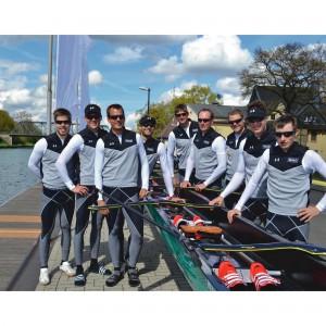 Deutschland-Achter rudert mit evil eye halfrim pro von adidas eyewear bei Olympia 2012 - Boot