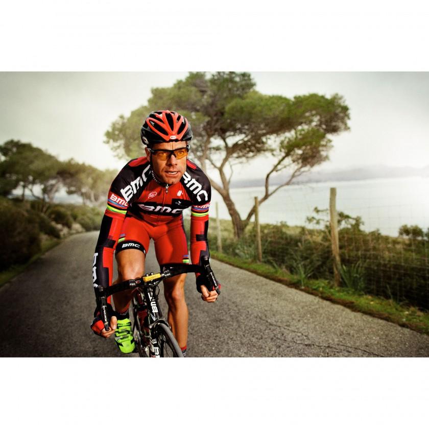 Cadel Evans mit seiner Sportbrille RadarLock von Oakley 2012