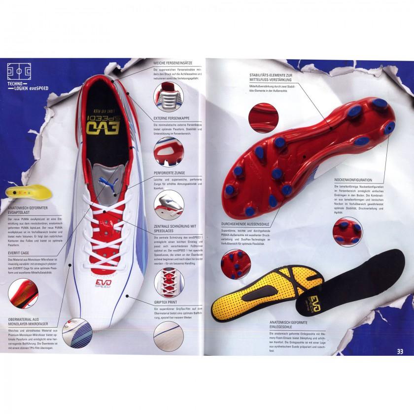 evoSPEED 1 FG Fußballschuh Technologie Details 2012