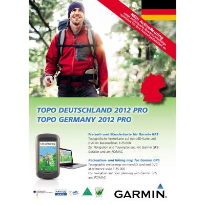 Outdoor-Karte Garmin Topo Deutschland 2012 Pro mit ActiveRouting: DVD Cover