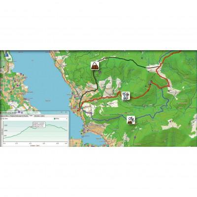 Beispiel fr ActiveRouting mit der Topo Deutschland 2012 Pro: Je nach Aktivitt schlgt die Karte eine andere Route vor