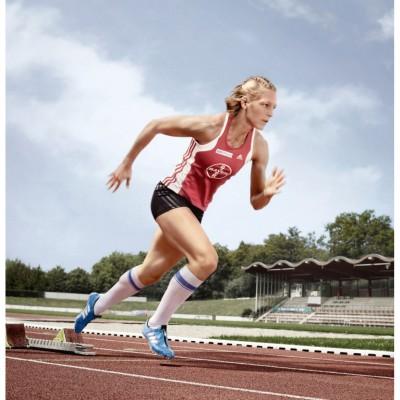 Jennifer Oeser qualifizierte sich fr Olympia 2012 dank des Kompressionsstrumpfs VenoTrain sport