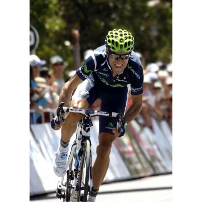 Radrennfahrer Alejandro Valverde vom Team Movistar mit der evil eye halfrim pro 2012