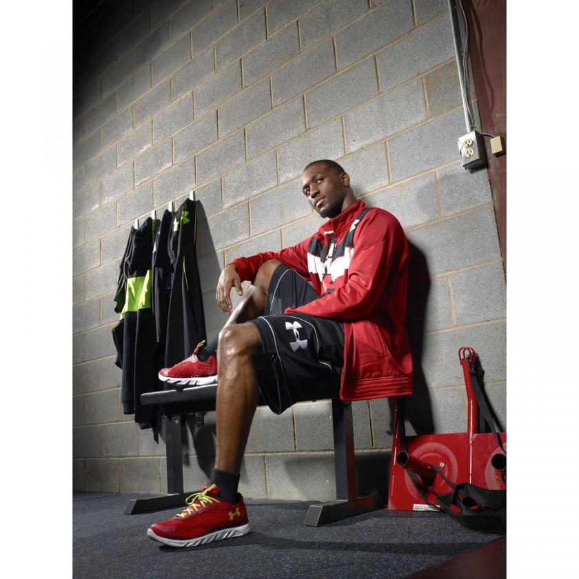 Basketballe Kemba Walker im UA SPINE RPM Laufschuh 2012