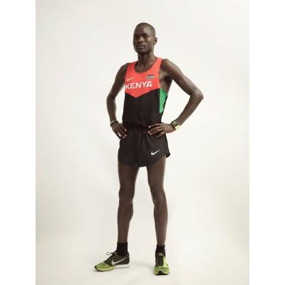 Kenias Ausnahme-Marathonlufer Abel Kirui im neuen komplett wasserlos gefrbten Laufoberteil von Nike 2012