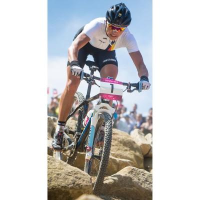 Sabine Spitz whrend des Olympischen Mountainbike-Rennens 2012