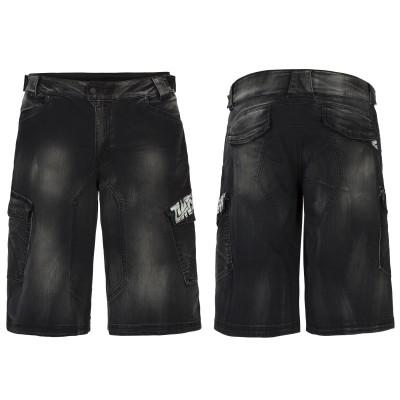 Hercules Denim Bike Shorts Men black front/back 2013