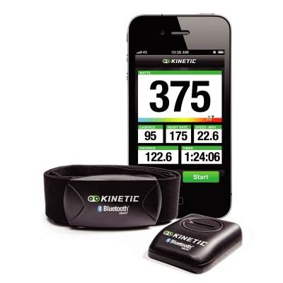Kinetic inRide System: Smartphone mit inRide App, Bluetooth-Brustgurt und Sensor Pod 2012